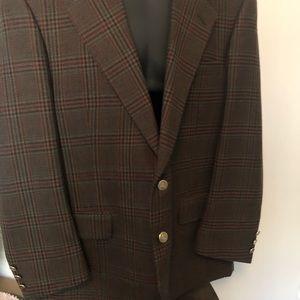 Burberry green plaid wool sport coat 42R